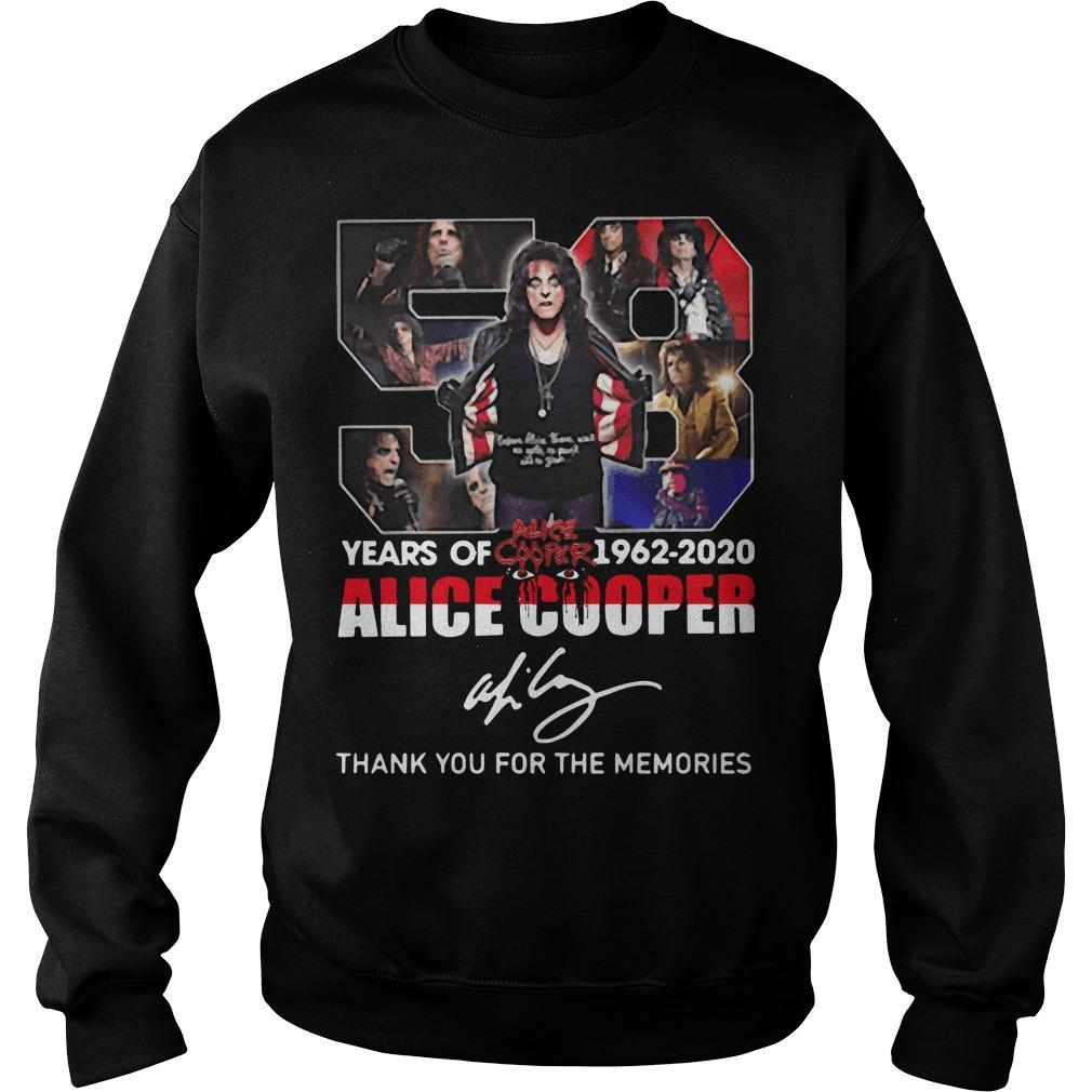 58 Years Of Alice Cooper Thank You For The Memories Sweater