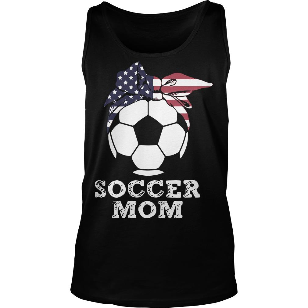 American Flag Independence Day Soccer Mom Tank Top