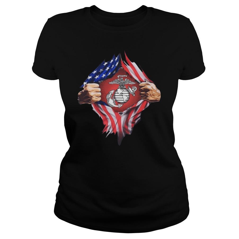 American Flag Marine Corps Hoodie