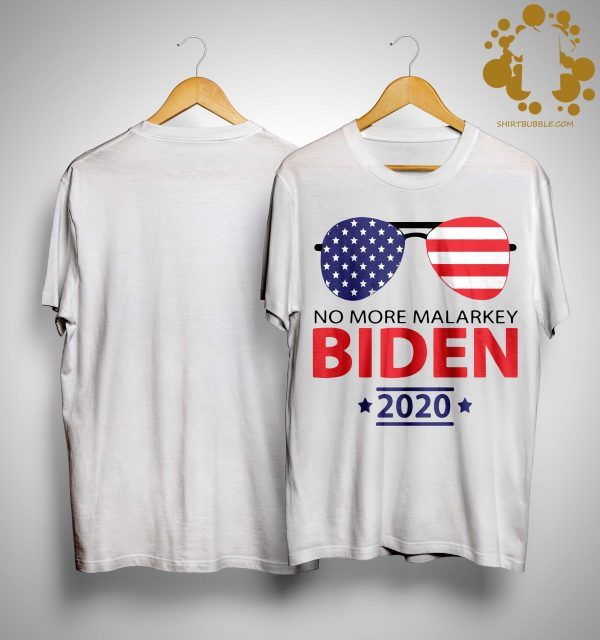 American Flag No More Malarkey Biden 2020 Shirt