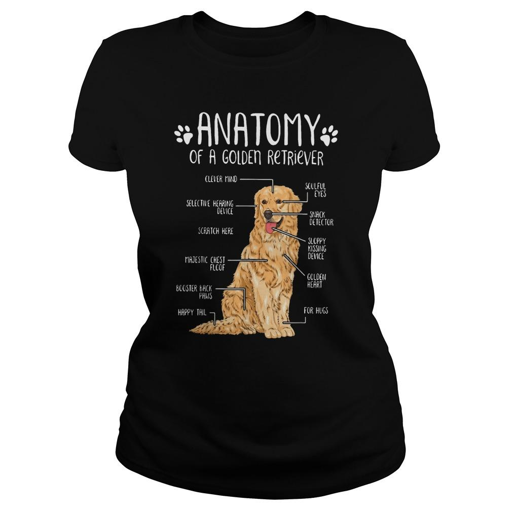 Anatomy Of A Golden Retriever Clever Mind Soulful Eyes Longsleeve