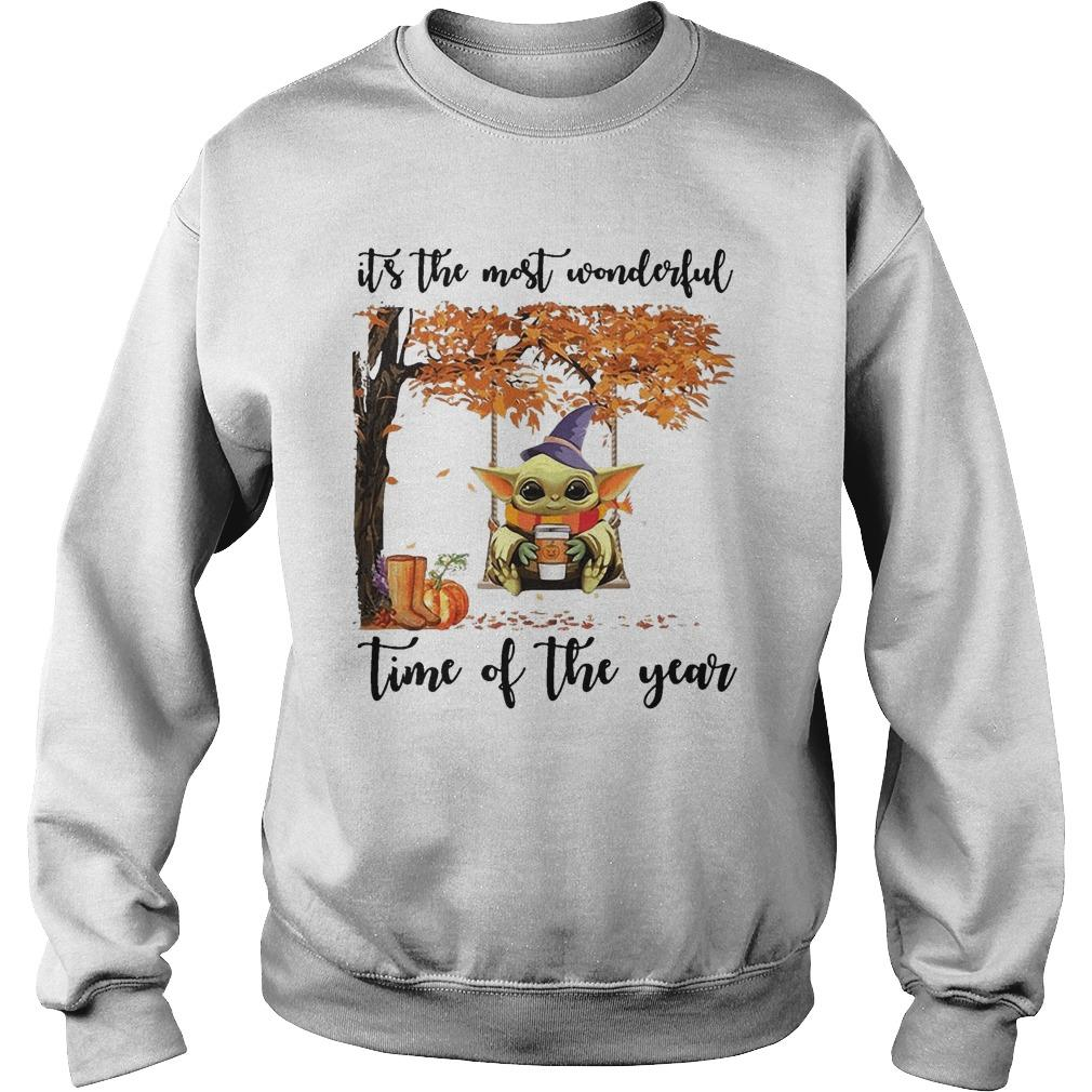 Baby Yoda It's The Most Wonderful Time Of The Year Sweater