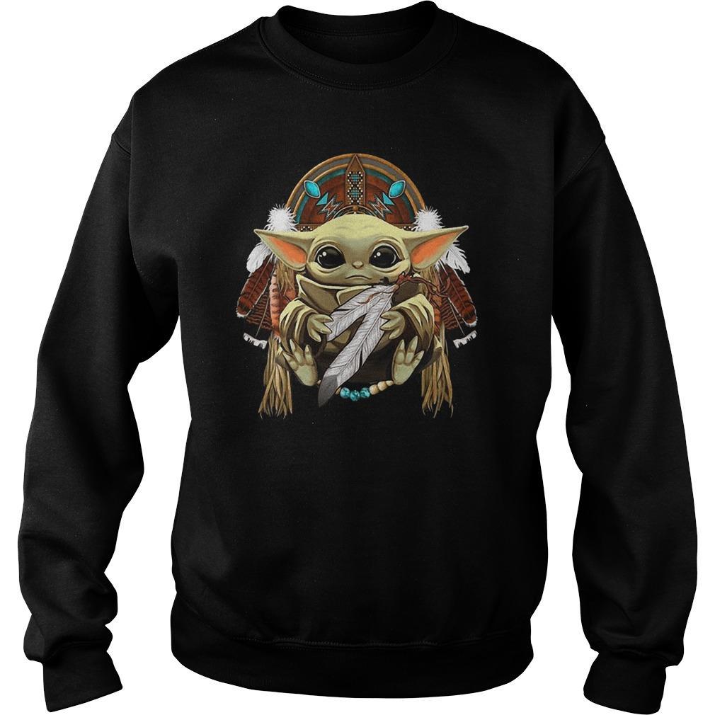 Baby Yoda Native American Sweater