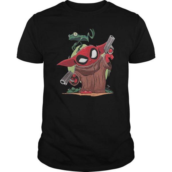 Baby Yoda Spiderman And Frog Shirt