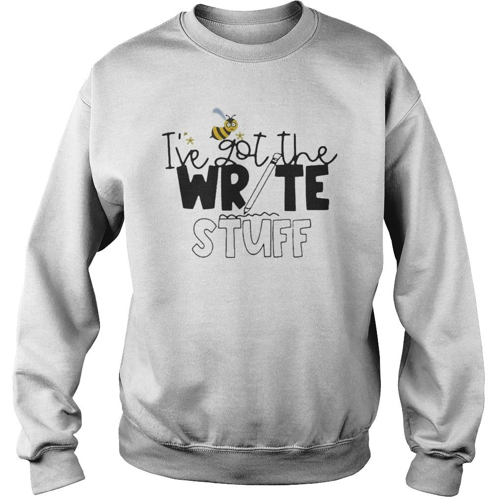 Bee I've Got The Write Stuff Sweater