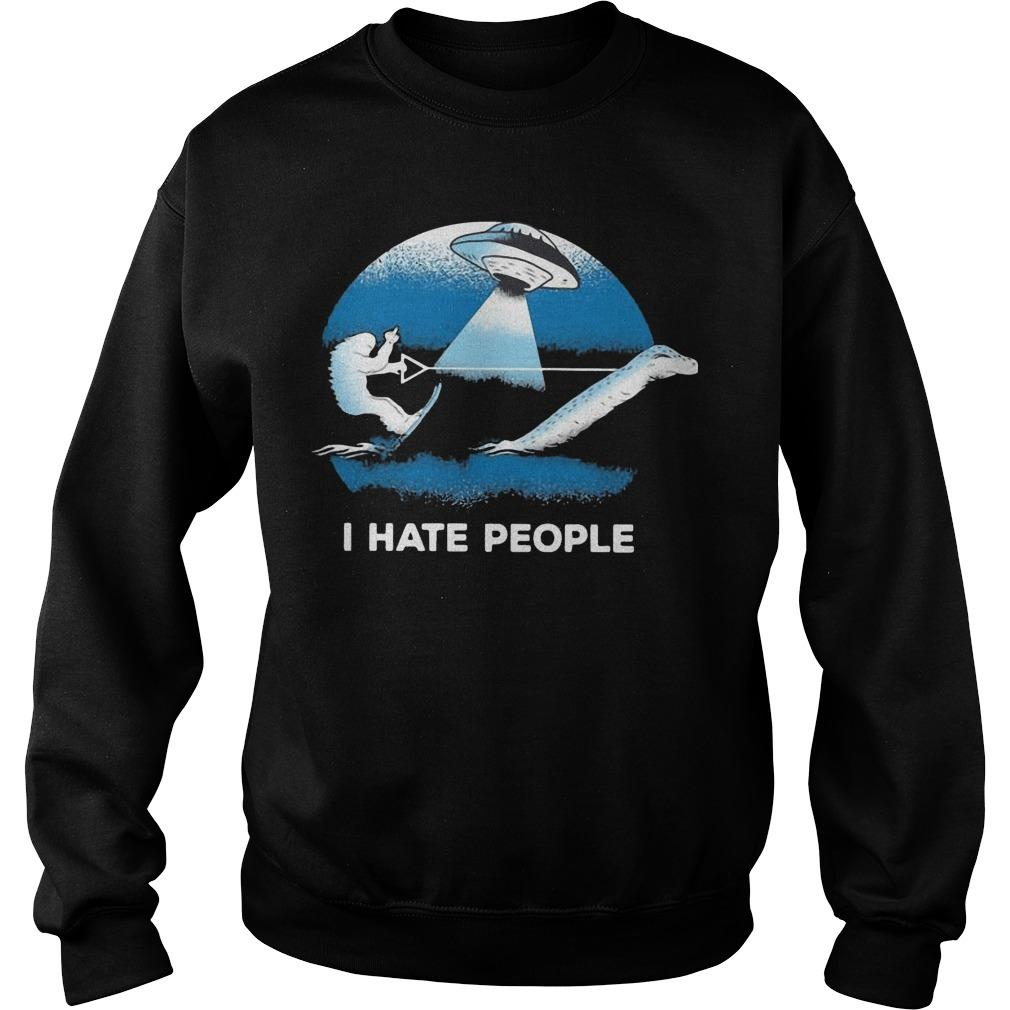 Bigfoot Ufo I Hate People Sweater