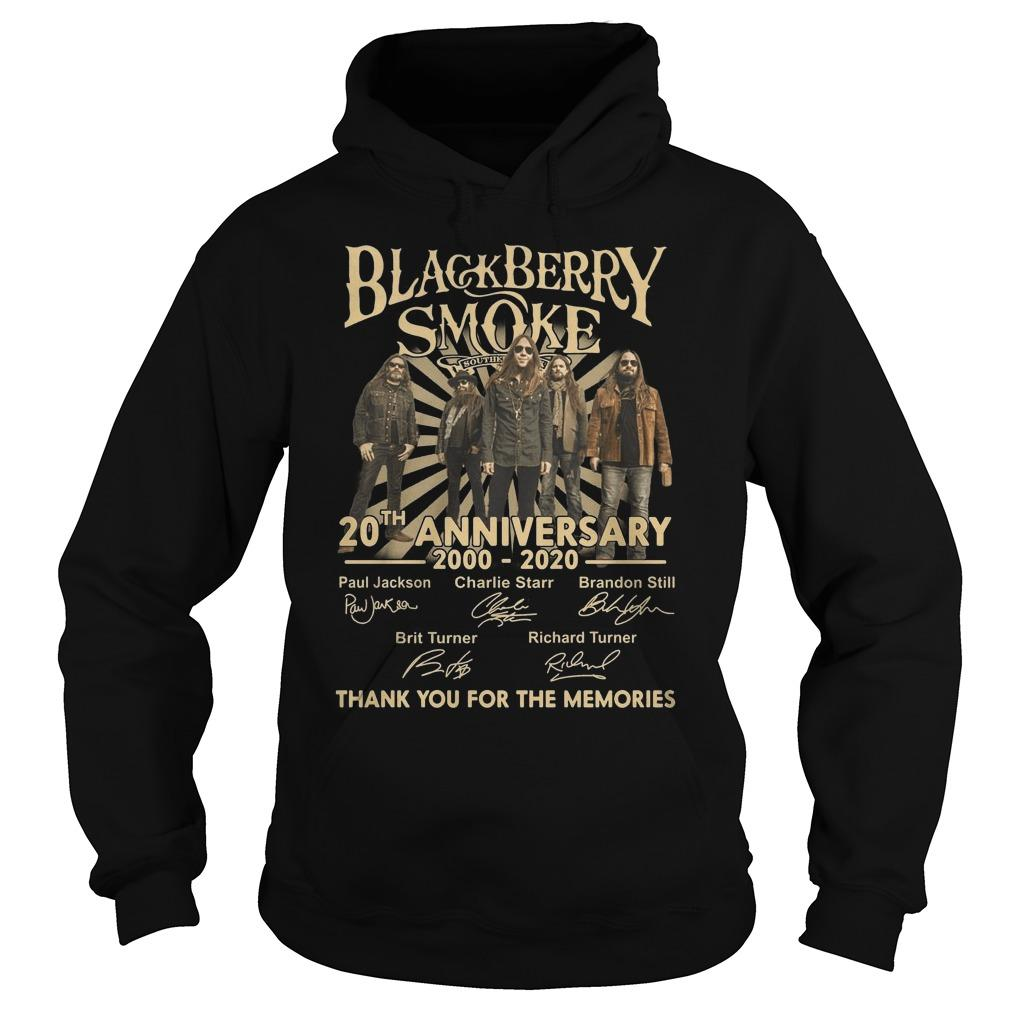 Black Berry Smoke 20th Anniversary Thank You For The Memories Hoodie
