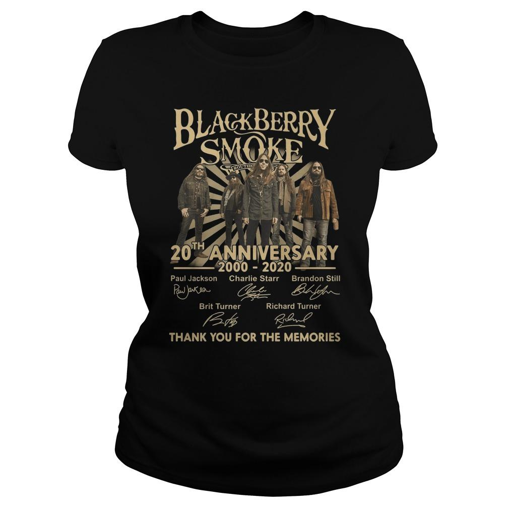 Black Berry Smoke 20th Anniversary Thank You For The Memories Longsleeve