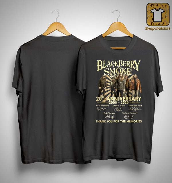 Black Berry Smoke 20th Anniversary Thank You For The Memories Shirt