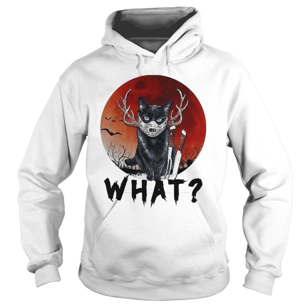 Black Cat Jason Voorhees Halloween What Hoodie