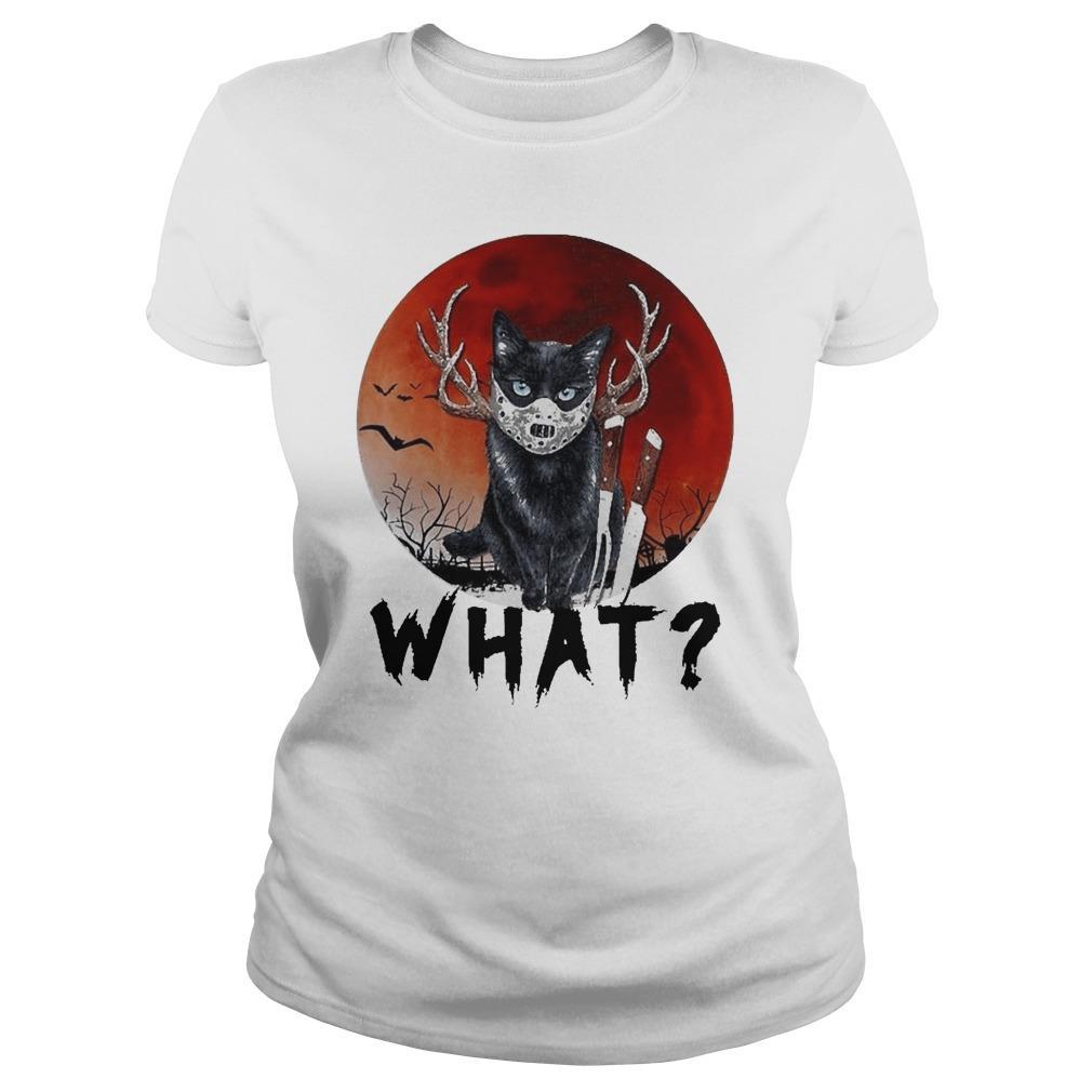 Black Cat Jason Voorhees Halloween What Longsleeve