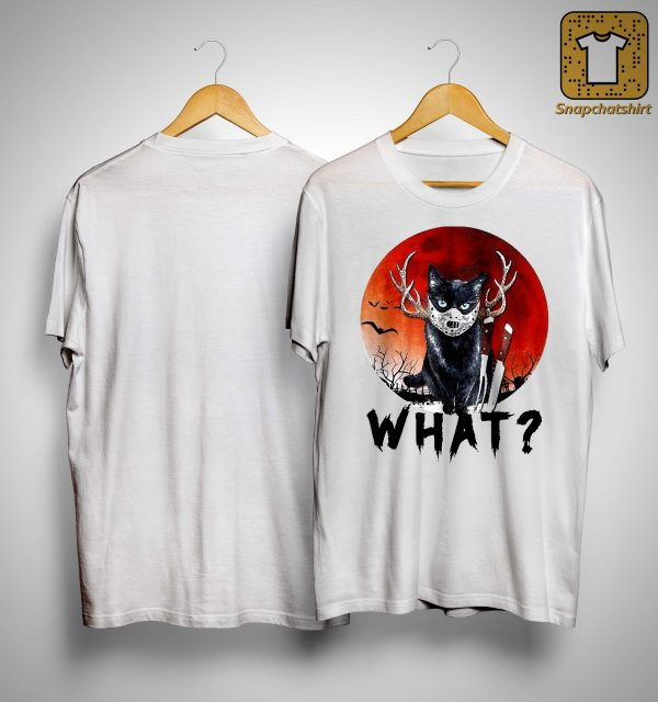 Black Cat Jason Voorhees Halloween What Shirt