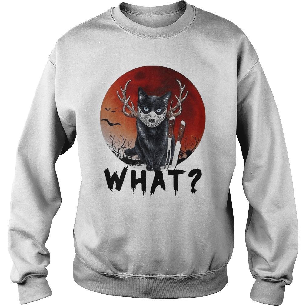 Black Cat Jason Voorhees Halloween What Sweater
