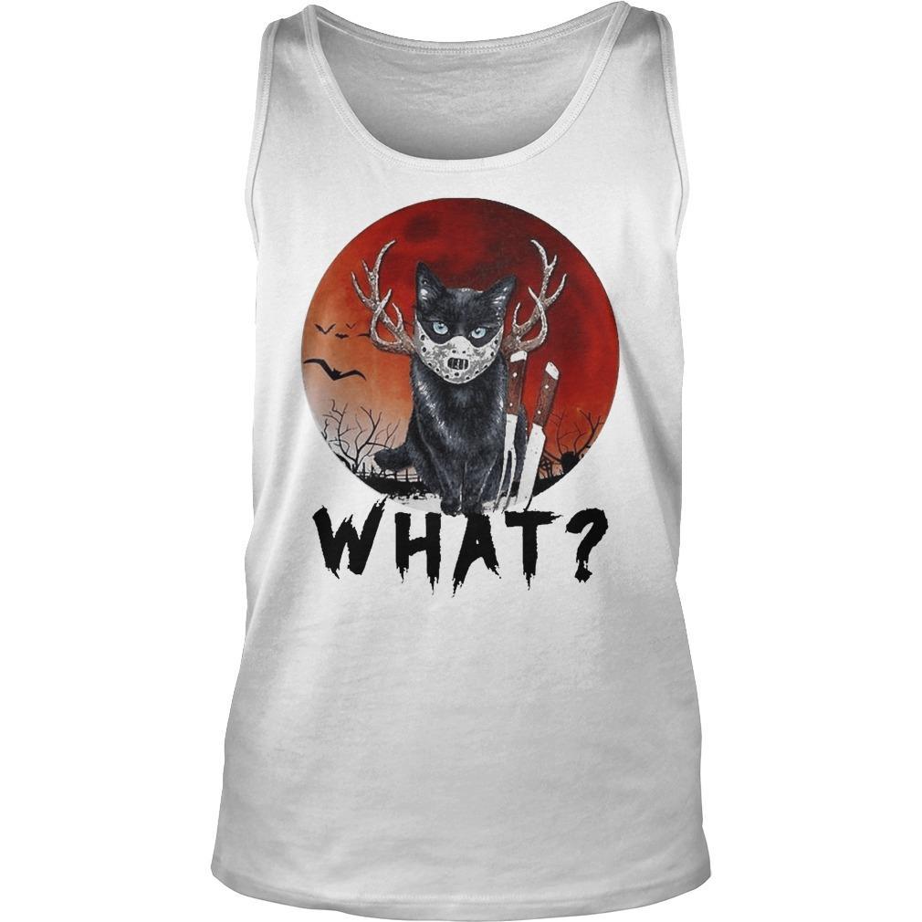 Black Cat Jason Voorhees Halloween What Tank Top