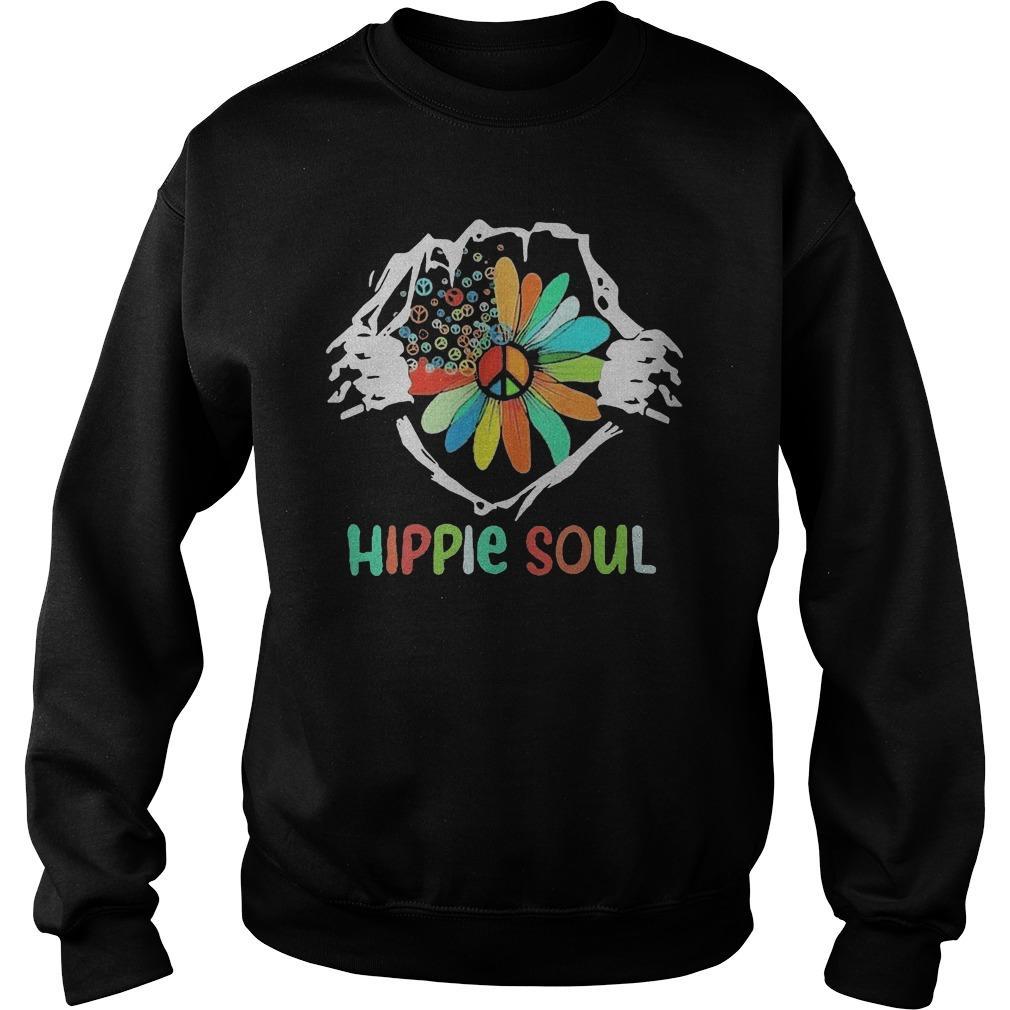 Blood Insides Peace Flower Hippie Soul Sweater