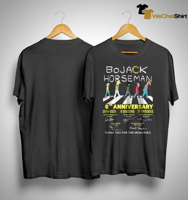 Bojack Horseman 6th Anniversary Thank You For The Memories Shirt