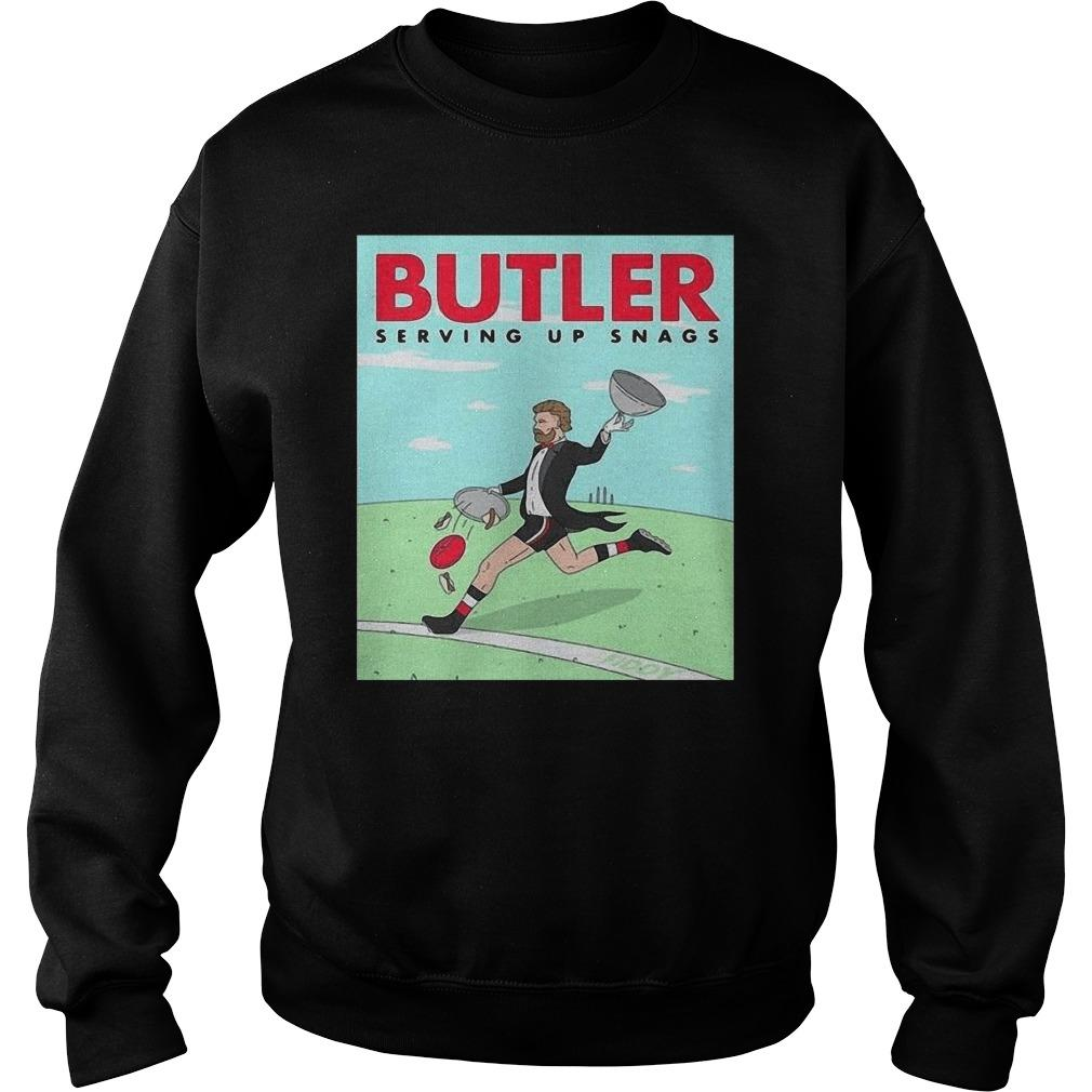 Butler Serving Up Snags Sweater