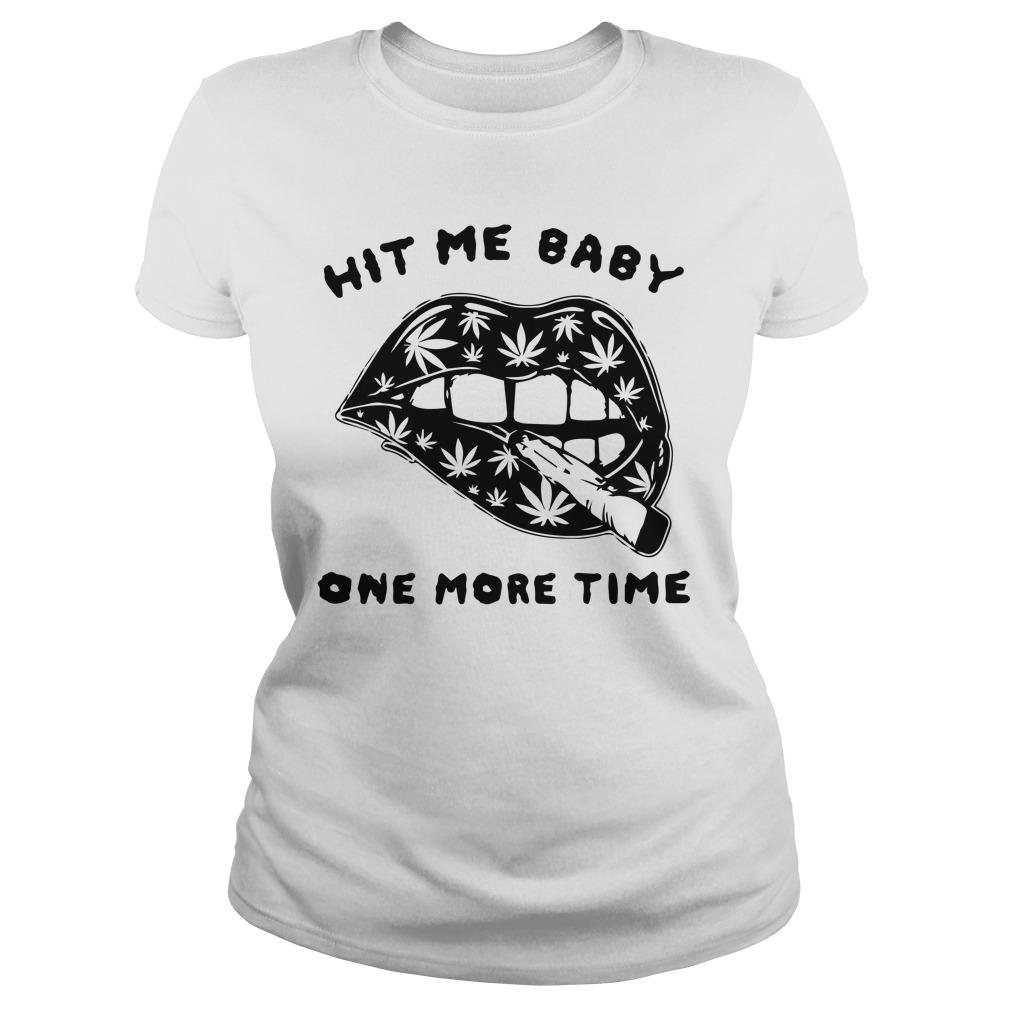 Cannabis Lips Hit Me Baby One More Time Longsleeve