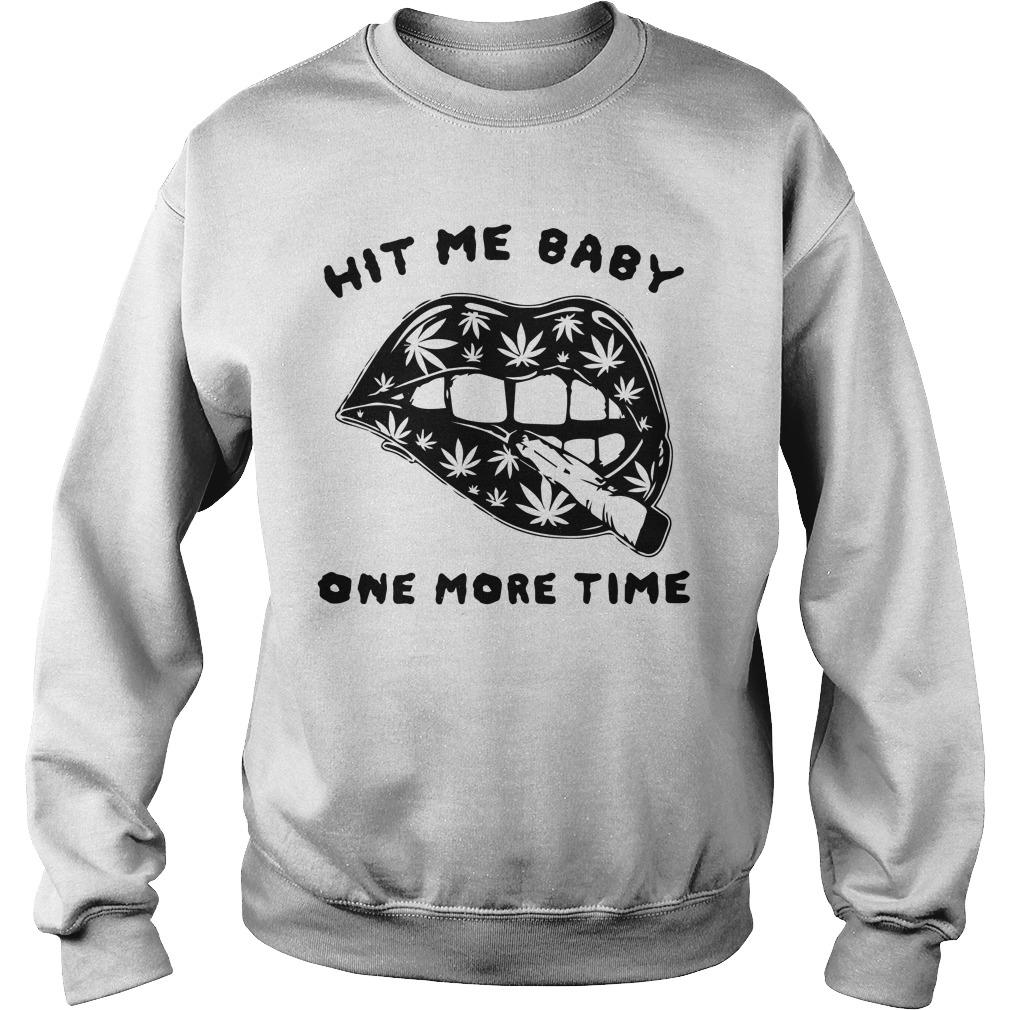 Cannabis Lips Hit Me Baby One More Time Sweater