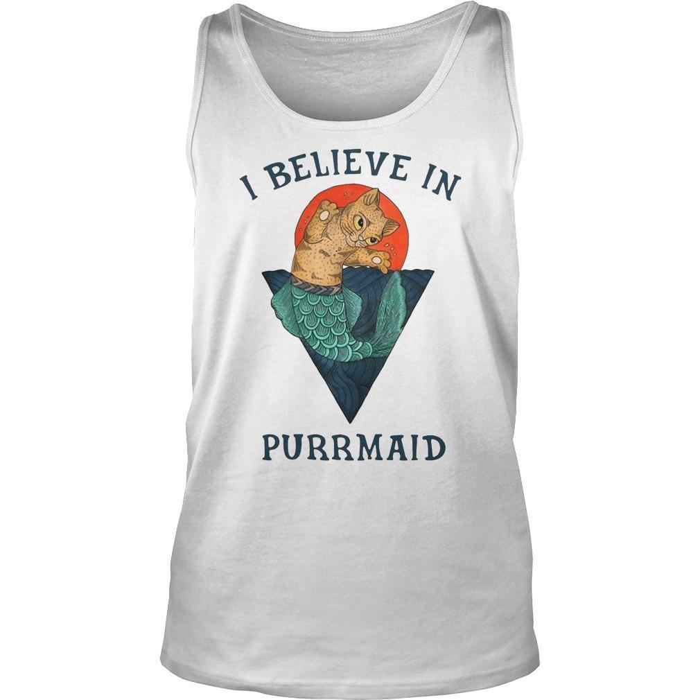 Cat I Believe In Purrmaid Tank Top