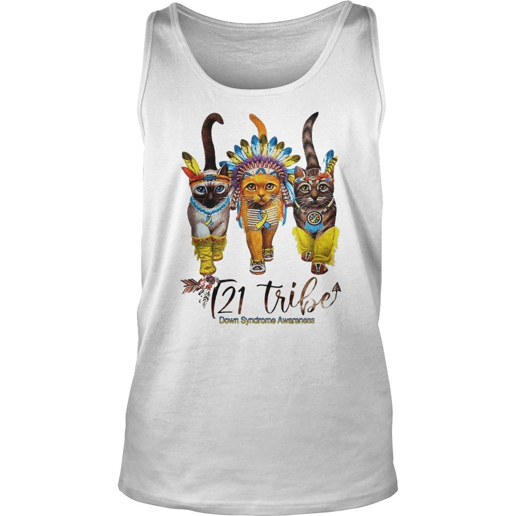 Cats T21 Tribe Down Syndrome Awareness Tank Top