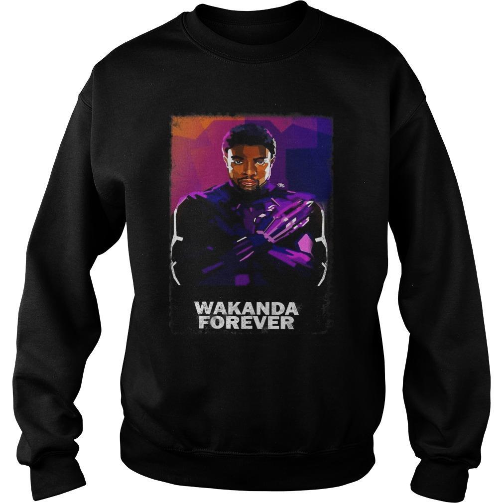 Chadwick Boseman Wakanda Forever Sweater