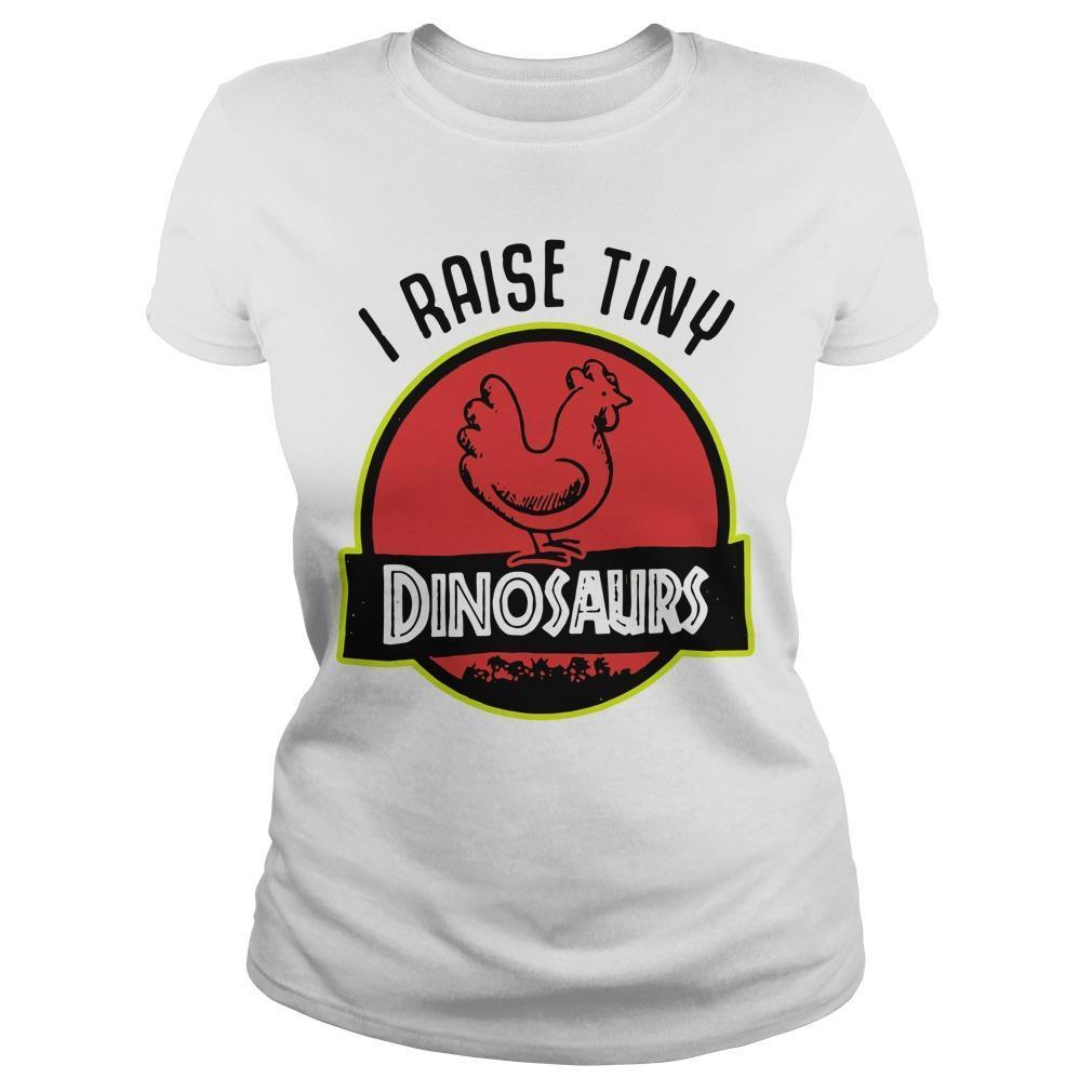 Chicken I Raise Tiny Dinosaurs Longsleeve