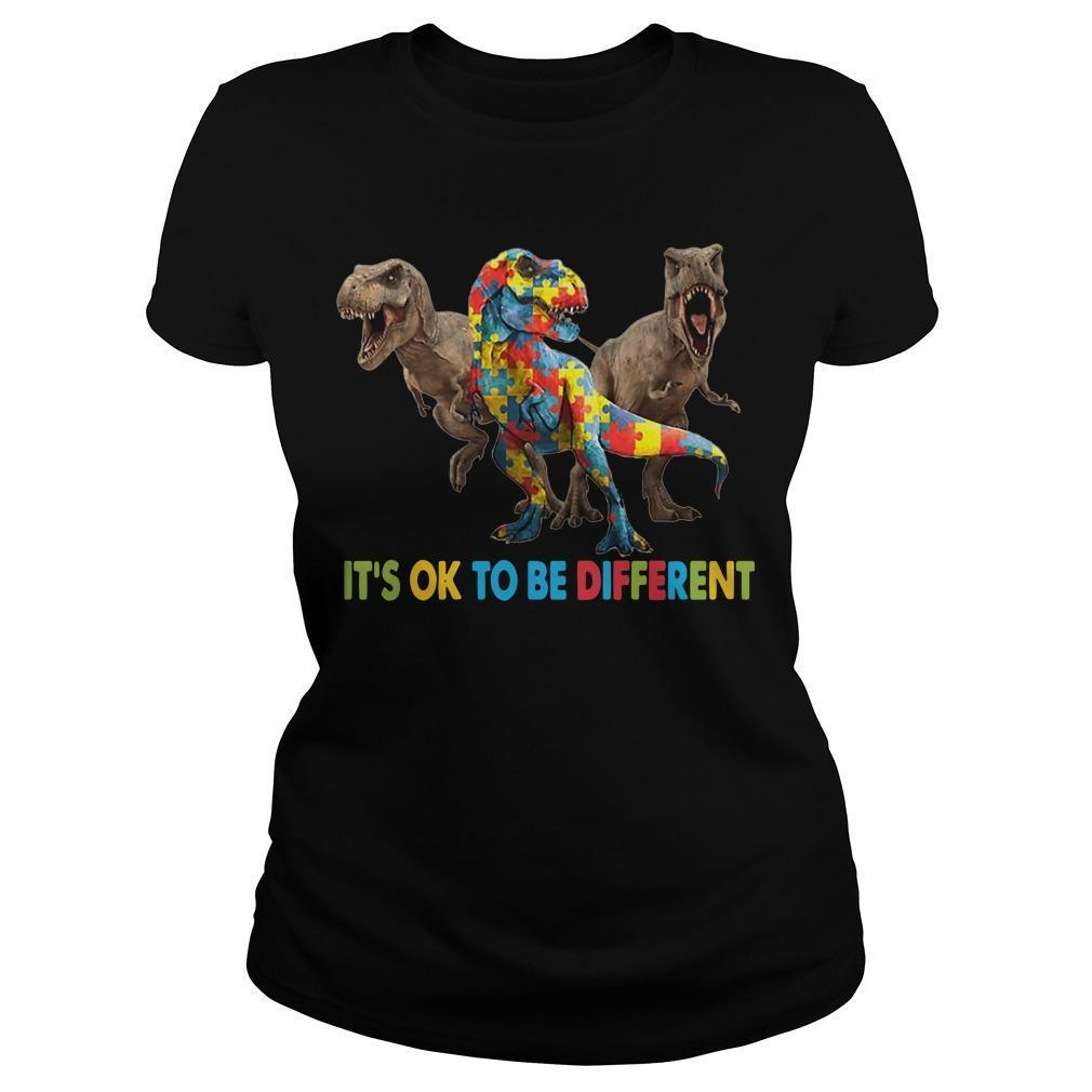 Dinosaur Autism It's Ok To Be Different Longsleeve