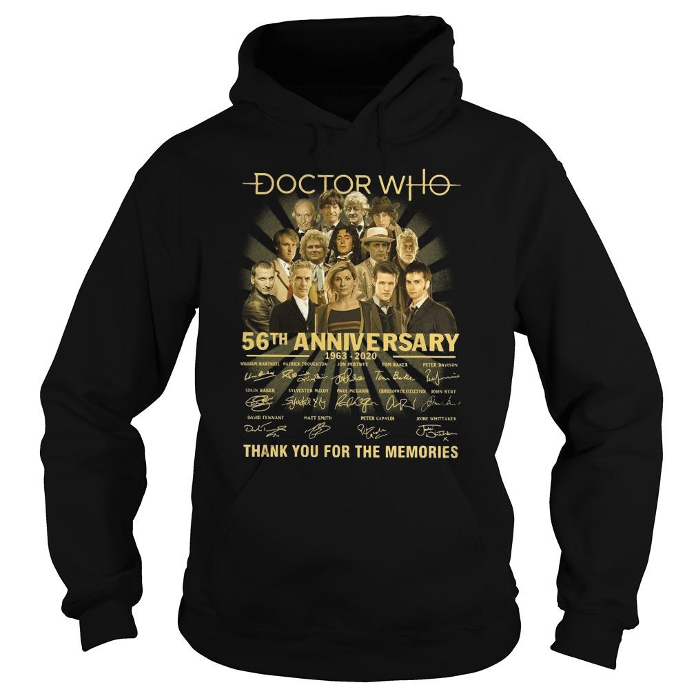 Doctor Who 56th Anniversary Thank You For The Memories Hoodie
