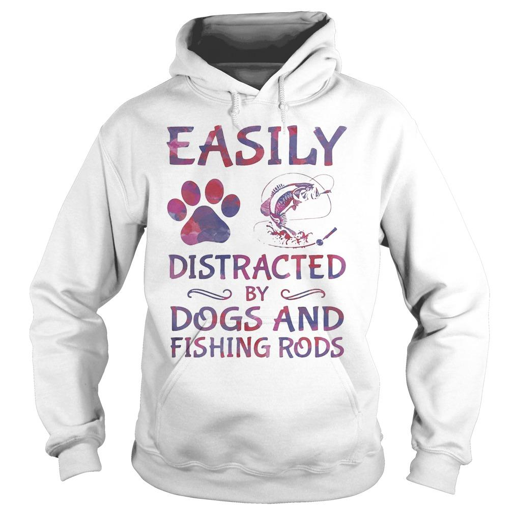 Easily Distracted By Dogs And Fishing Rods Hoodie
