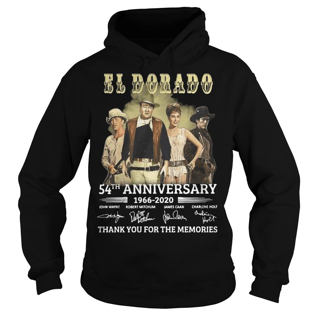 El Dorado 54th Anniversary 1966 2020 Thank You For The Memories Signatures Hoodie