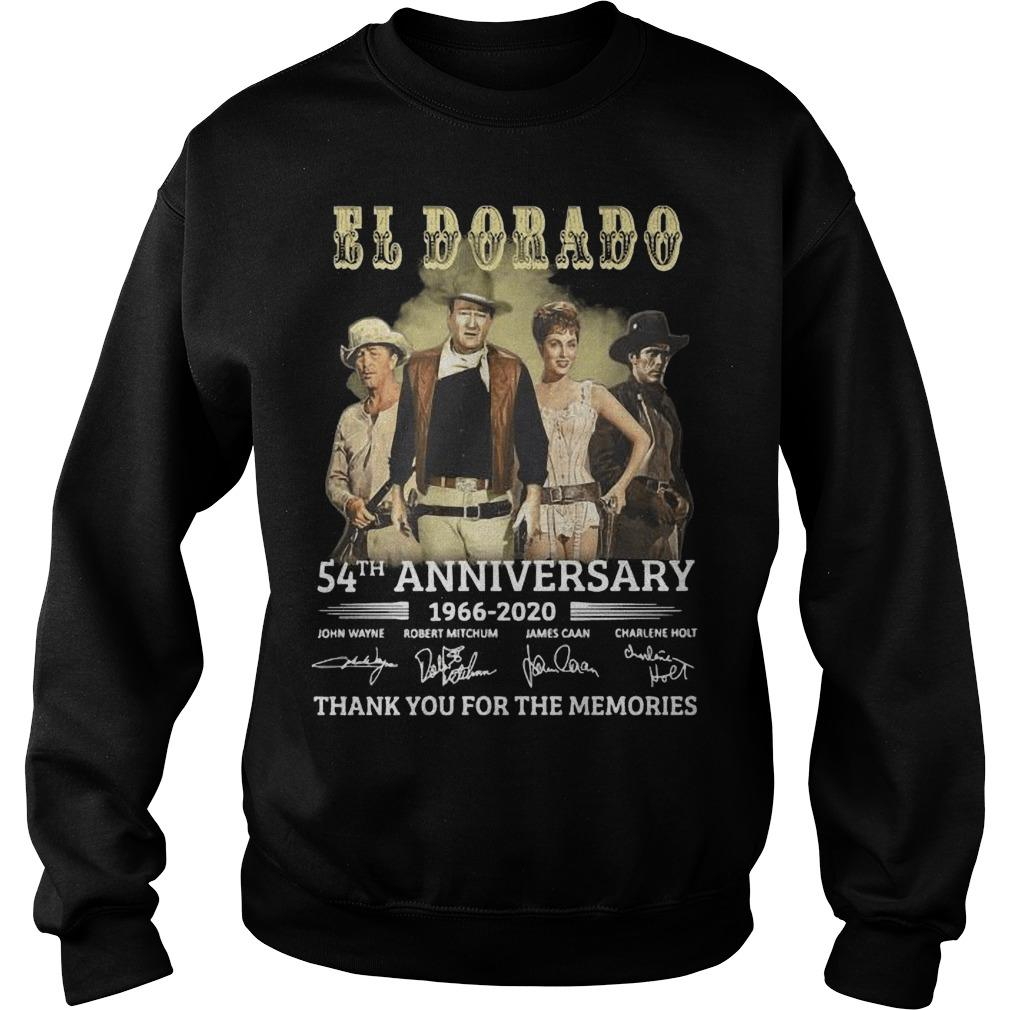 El Dorado 54th Anniversary 1966 2020 Thank You For The Memories Signatures Sweater