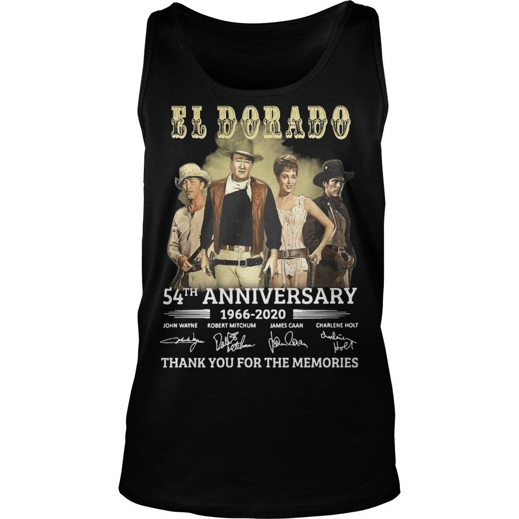 El Dorado 54th Anniversary 1966 2020 Thank You For The Memories Signatures Tank Top