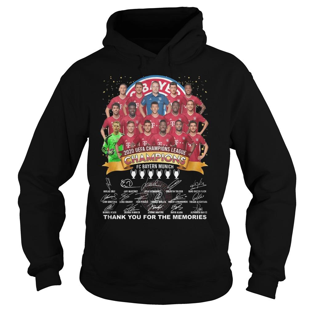 Fc Bayern 2020 Uefa Champions League Thank You For The Memories Hoodie
