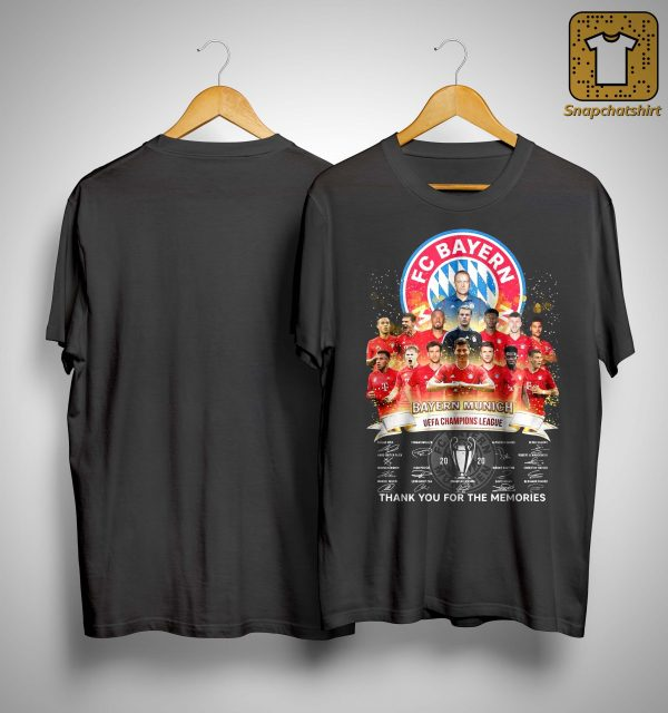 Fc Bayern Munich Uefa Champions League Thank You For The Memories Shirt