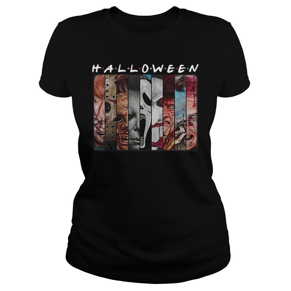 Friends Tv Show Horror Characters Halloween Longsleeve