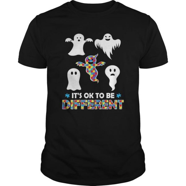Ghosts Autism It's Ok To Be Different Shirt