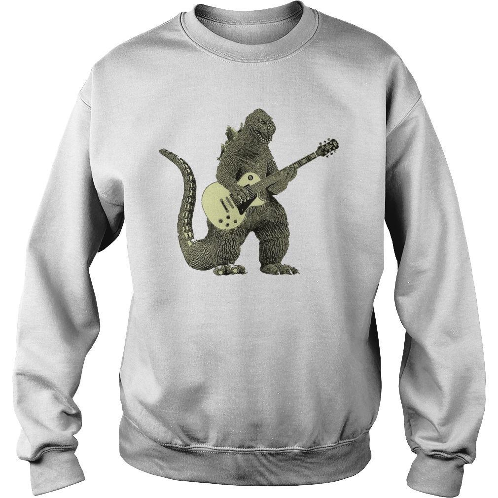 Godzilla With Guitar Sweater