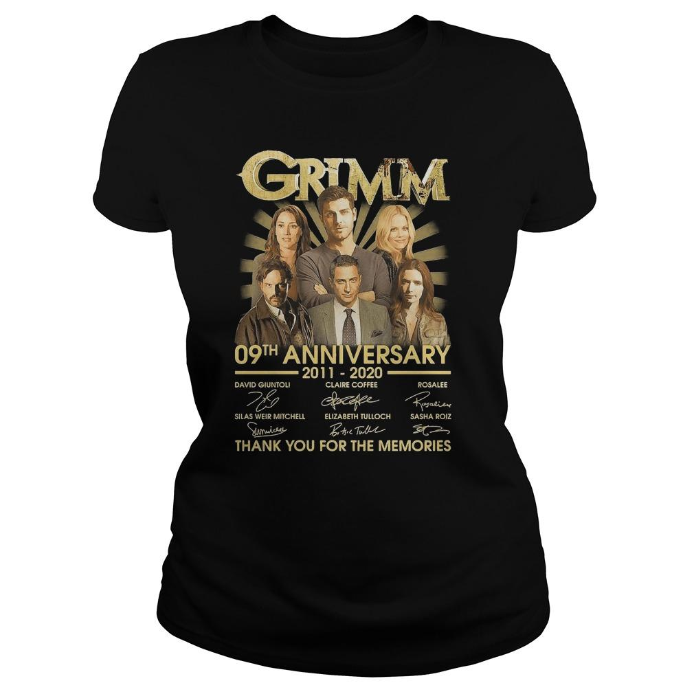 Grimm 09th Anniversary 2011 2020 Thank You For The Memories Signatures Longsleeve