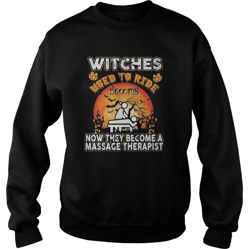Halloween Witches Used To Ride Brooms Now They Become A Massage Therapist Sweater
