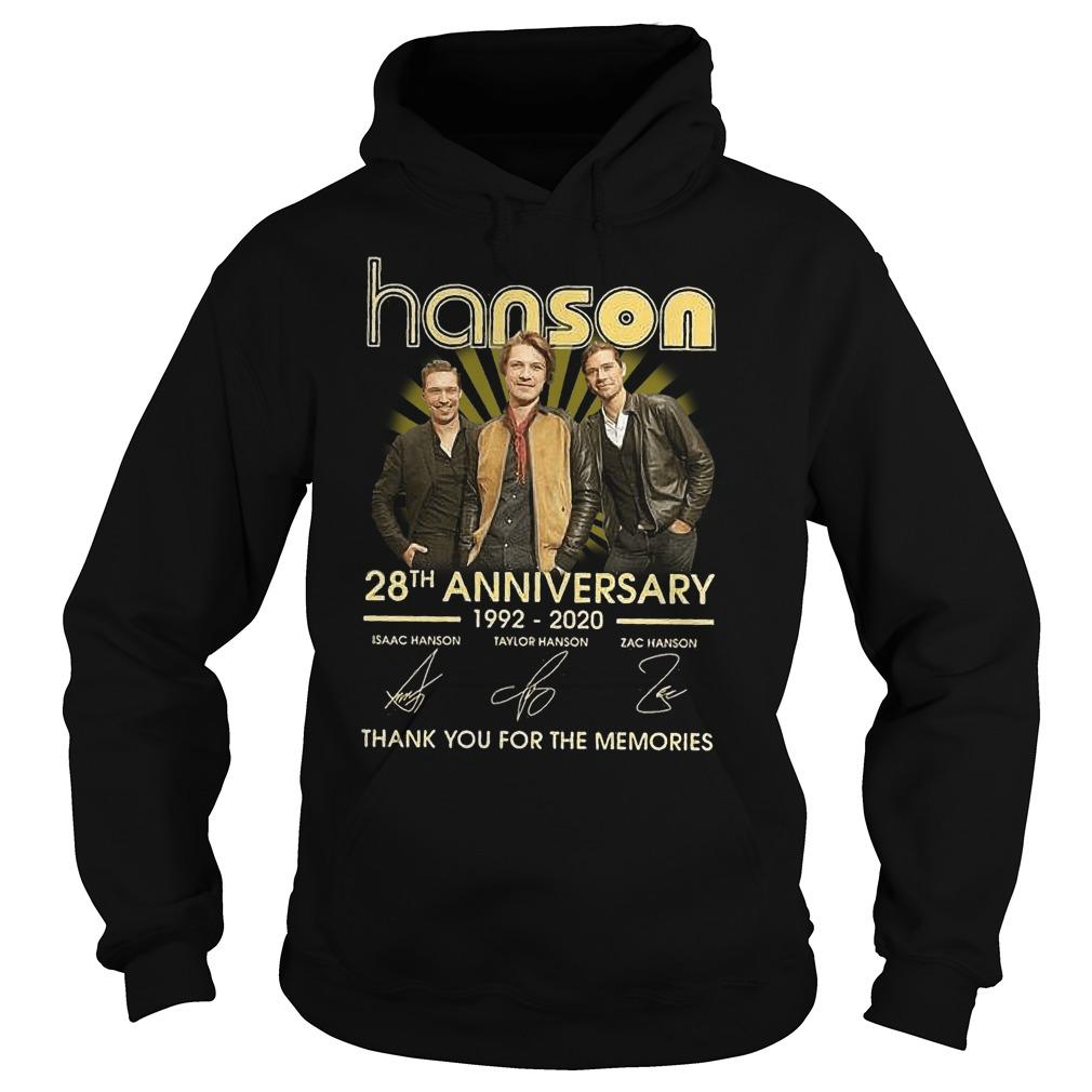 Hanson 28th Anniversary Thank You For The Memories Hoodie
