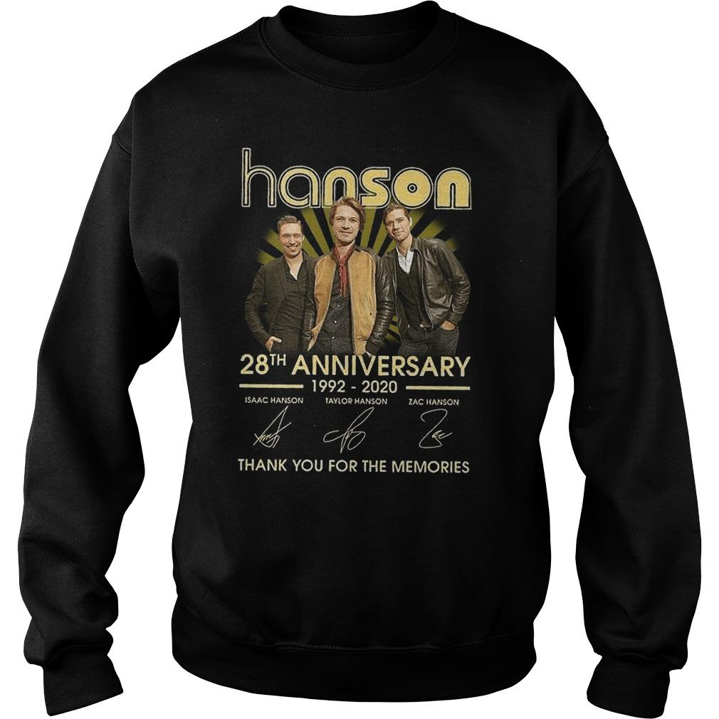 Hanson 28th Anniversary Thank You For The Memories Sweater