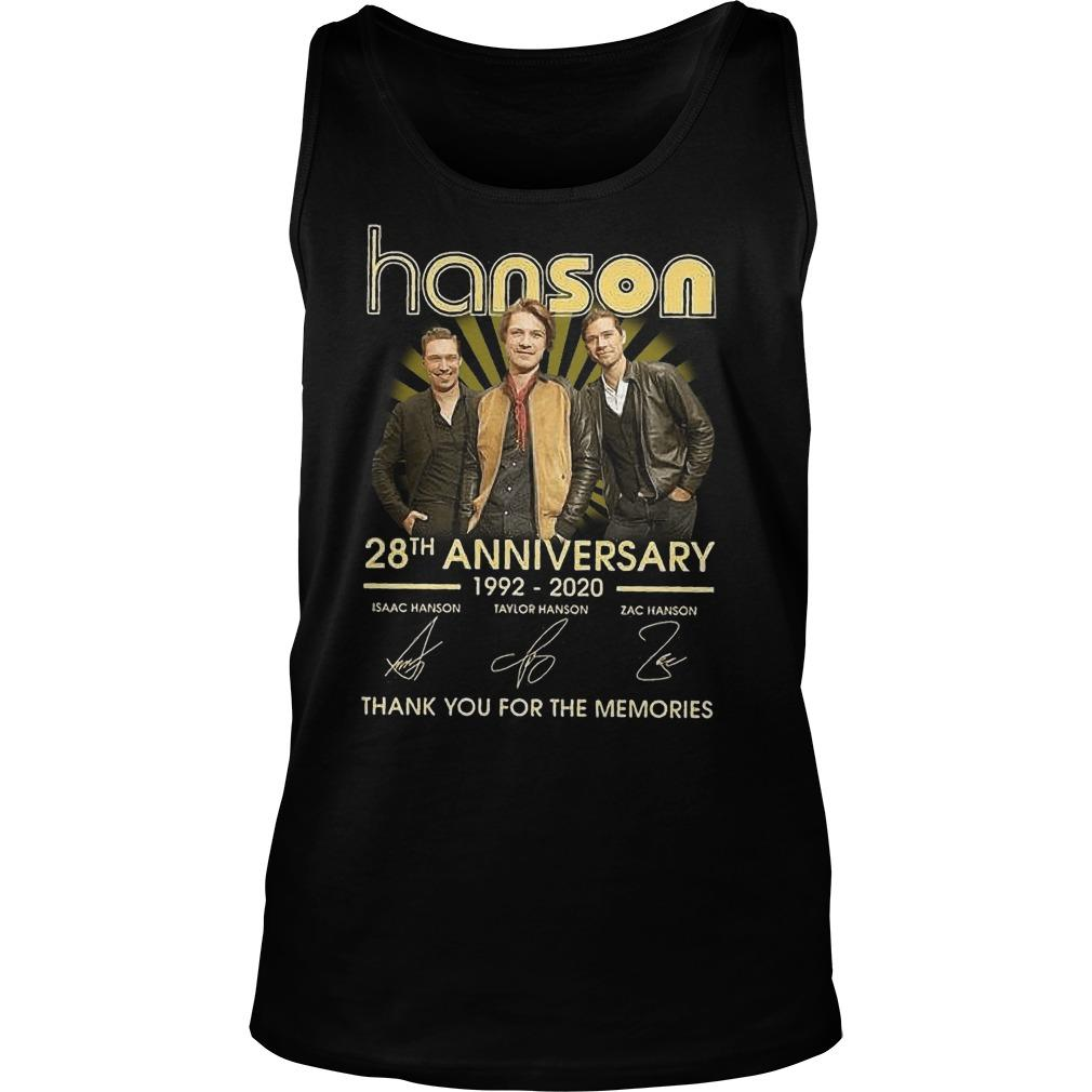 Hanson 28th Anniversary Thank You For The Memories Tank Top