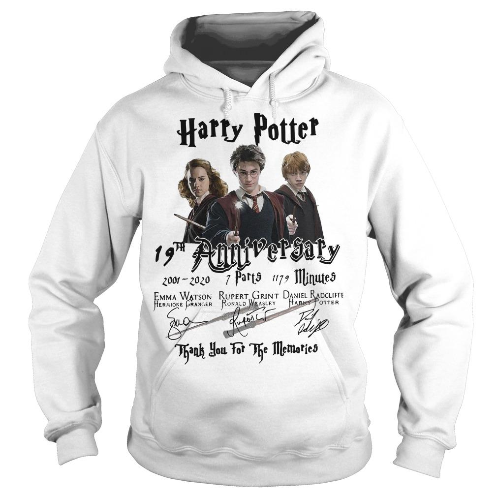 Harry Potter 19th Anniversary Thank You For The Memories Signatures Hoodie
