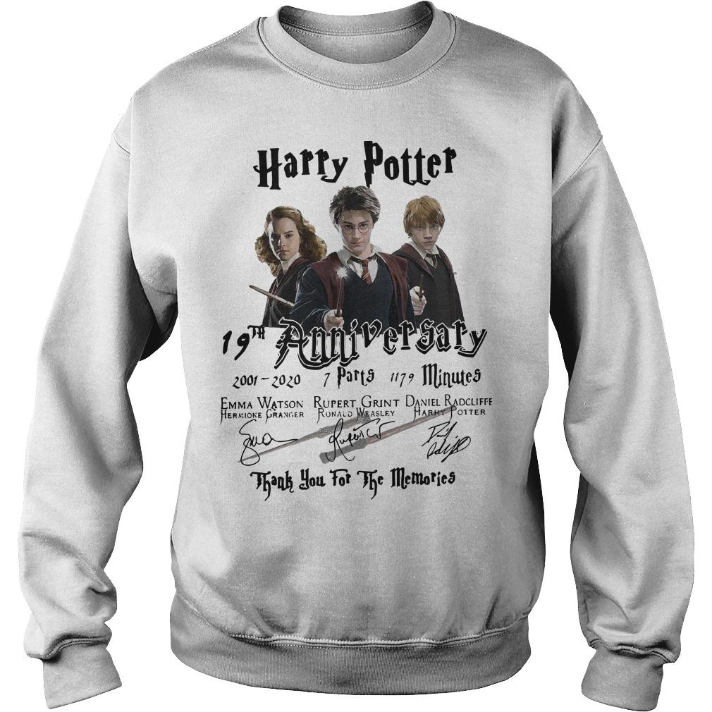 Harry Potter 19th Anniversary Thank You For The Memories Signatures Sweater