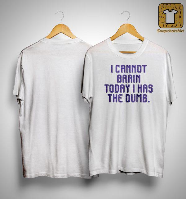 I Cannot Brain Today I Has Dumb Shirt