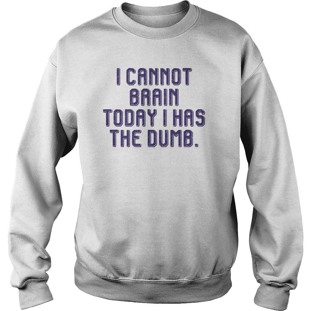 I Cannot Brain Today I Has Dumb Sweater