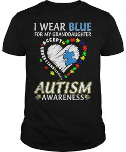 I Wear Blue For My Granddaughter Autism Awareness Shirt