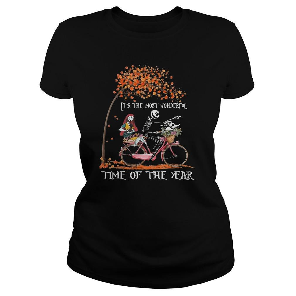 Jack Skellington And Sally It's The Most Wonderful Time Of The Year Longsleeve