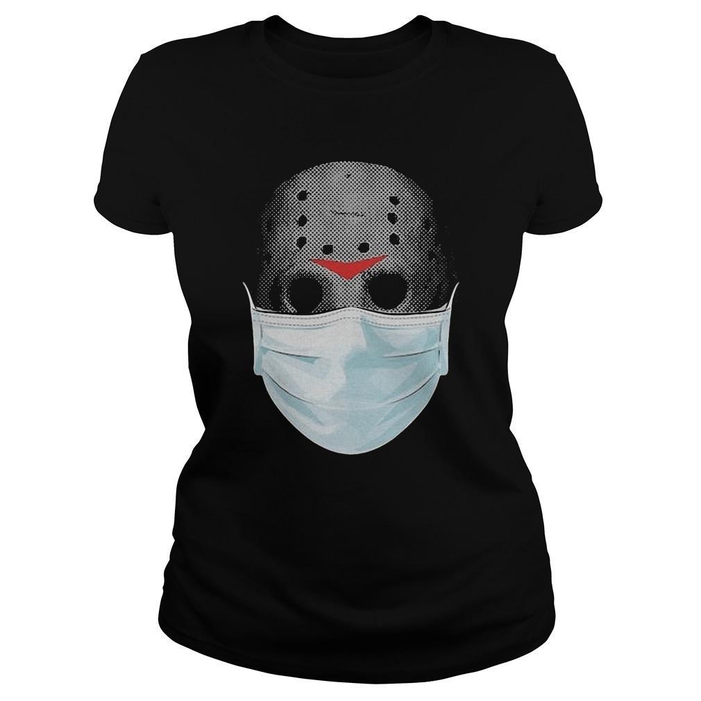 Jason Voorhees Face Mask Halloween Longsleeve